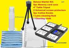 11 pc CLEANING STARTER KIT CARD CASE TRIPOD aptTo Camera  Camcorder Video