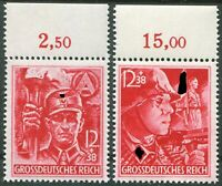 DR Nr. 909 - 910 OR ** Oberrand postfrisch LUXUS SA SS WW II German Army MNH