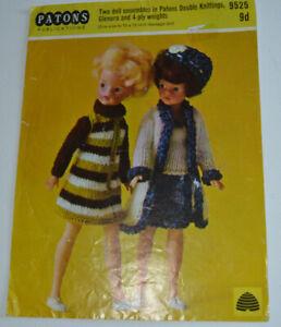Knitting pattern dolls Sindy & barbie 12 teen doll 4 ply