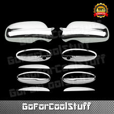 For 2000 01 02 03 04 05 Chevy Impala Chrome 4 Door Handle Mirror Covers