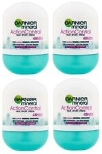 4x Garnier Mineral Action Control Anti-perspirant Deodorant Roll on for Women