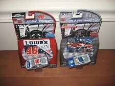 Lot of 2 - #48 Jimmie Johnson & #88 Dale Earnhardt Jr. 1/64 Nascar Authentics
