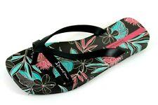 Ipanema Womens UK 5 EU 38 Black Floral Square Toe Post Thong Summer Flip Flops