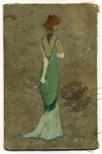 Red Hair Elegant Lady w Gloves + Fan 1999 Impressionist FINE ART PRINT Signed