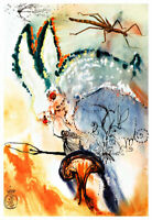 Alices Adventures in Wonderland 2 A2 by Salvador Dali High Quality Canvas Print