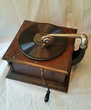 Antique Columbia GRAPHOPHONE Tabletop record player! 1914ish(?) Orig decals!!