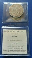 1876-E Germany EmpireHESSE-DARMSTADT 5 Mark Silver Coin Ludwig III ICCS F-12