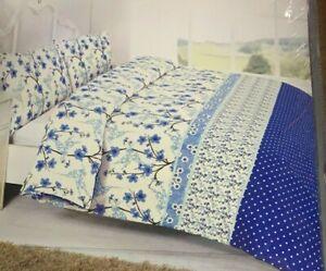 Single Size Hummingbird Blue Soft Duvet Cover Set With Pillowcase