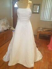 michaelangelo David's Bridal wedding dress size 8 white sty 2713