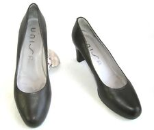 UNISA Court shoes heels 7.5 cm plateau brown leather dark gray 39 MINT