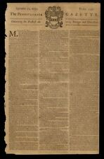 PENNSYLVANIA GAZETTE 1753 RARE NEWSPAPER PRINTED BY BENJAMIN FRANKLIN POSTMASTER