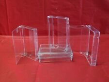 Lot 60 Empty Clear Audio Cassette Tape Cases W/O Spindle Stem