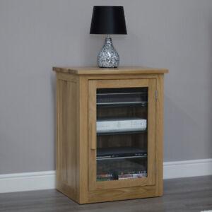 Arden Hi-Fi Storage Cabinet Unit Solid Oak Living Room Furniture
