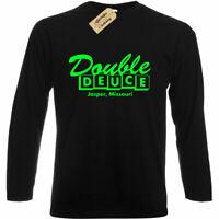 Double Deuce Roadhouse Inspired Mens Retro 80's Action Film long sleeve