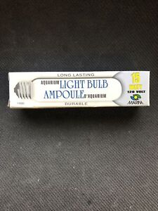 MARINA, 15W Aquarium Light Bulb, Clear (11680)