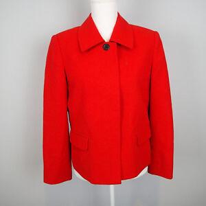 KASPER sz 8P BLAZER,Jacket orange red /carrot wool bl CAREER  T7