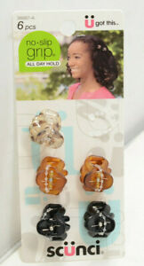 Scunci U Got This, No Slip Grip All Day Hold Hair Clips Clamps, Pack of 5