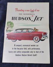 "1953 HUDSON JET DEALERS SALE BROCHURE / VERY NICE 10 5/8"" X 15"" LARGE BROCHURE"