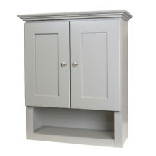 Grey Shaker Bathroom Wall Cabinet 21x26