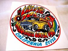 """LOST IN THE 70""""S CALIFORNIA STYLE SURFER,VAN VINYL STICKER,DECAL"""