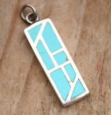 Vintage Pendant Sterling Silver Turquoise Blue Necklace Jewelry Jewellery 925
