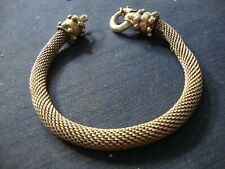 Old Pawn Huge Big Chunky Bracelet Rare Asia Estate 925 Sterling Silver