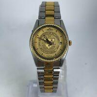 Seiko Womens 3E23-0A69 University Of Pittsburgh Gold Two Tone Analog Wrist Watch