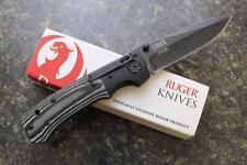 CRKT RUGER Harsey ALL-CYLINDERS R2001K Black Stonewash Plain Edge Folding Knife