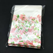 100pcs pink Rose flower Self Adhesive Seal Bag Plastic Jewelry Packing Gift Bags