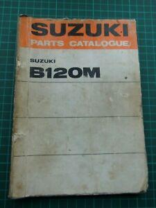 SUZUKI B120M ORIGINAL PARTS BOOK