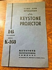 Vintage 1940s KEYSTONE K-160 16mm Projector Manual - Same Day Shipping!