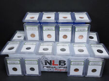 Lot of 20 Random Year 1¢, 5¢,10¢ PCGS case and slabbed coins