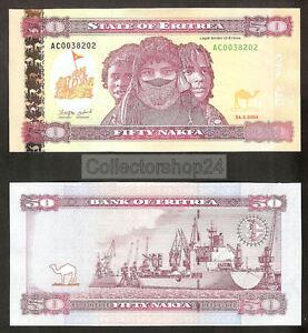Eritrea 50 Nakfa 2004 Unc pn 7