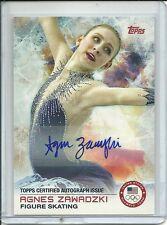 2014 Topps Winter Olympics Agnes Zawadzki Auto Figure Skating Autograph #96