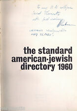 The Standard American-Jewish Directory 1960 + Exlibris , signature