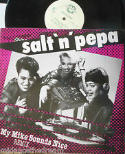 "SALT N PEPA ~ My Mike Sounds Nice ~ 12"" Single PS"