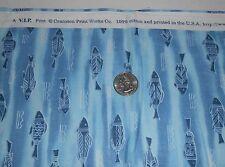 Arctic Fish Salmon Quilt Fabric Cranston V.I.P. Polar Bear Collection