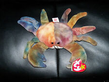 """Ty Original Beanie Babies -  """"Claude"""" The Crab - Retired  w/ Hang Tag NEW"""