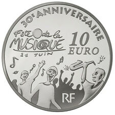 Pièce 10 euros argent Europa 30e Fête de la musique BE 2011 Monnaie de Paris