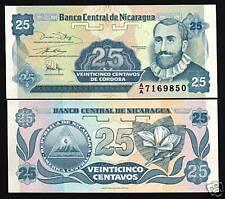 NICARAGUA 25 CENTAVOS P170 1991 BUNDLE CORDOBA FLOWER UNC PACK 100 PCS BANK NOTE
