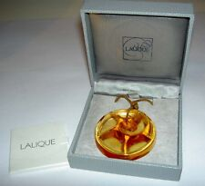 Authentic LALIQUE Tourbillons Golden Amber Pendant Crystal Necklace New in Box