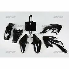 NEW UFO Honda CRF 50 Export Motocross MX Plastic Kit 2004 - 2017 Black