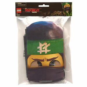 Lego Ninjago Paper Masks, 8-Count  (LOC 404 CR-4)
