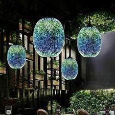 3D Silver Glass Pendant Ceiling Firework Galaxy Star Lights Ceiling Lamp Fixture