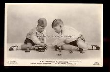 r3941 - Princess Mary's Sons George & Gerald Lascelles play with Toys - postcard