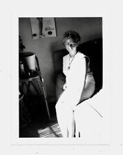 PHOTO ANCIENNE Femme Portrait Jeu de lumières Collant Hélios Affiche 1960 Lit