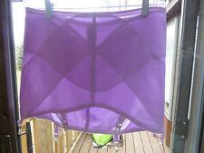 4X 38 Vintage Open Bottom Girdle 6 Garters Silky Tight Nylon Spandex Purple