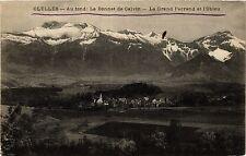 CPA   Clelles -Au fond:Le Bonnet de Calvin - La Grand Ferrand et l'Obieu(434782)