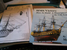 USED  KIT   HELLER  SCALE 1/100   MODEL OF H.M.S. VICTORY  SHIP    PLUS  HOW TO