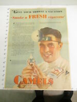 newspaper ad 1931 CAMEL cigarettes medical doctor endorse AW FULL